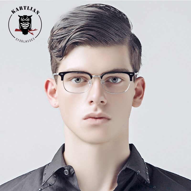 glasses men Kartlian square optical frame custom prescription glasses women clear lens eyewear lenses Acetate & alloy eyeglasses