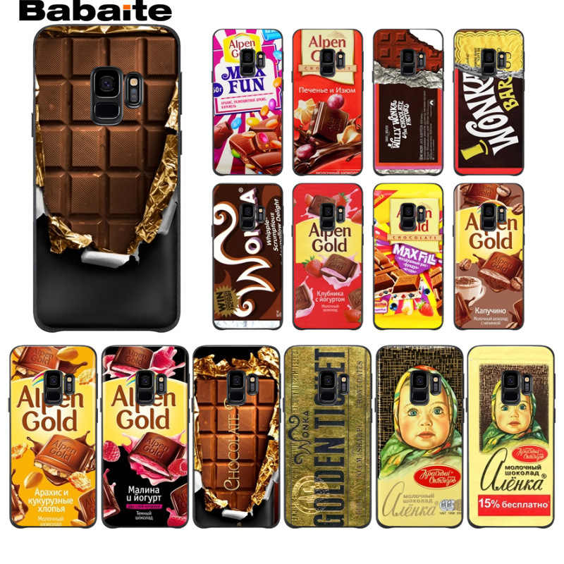alenka bar wonka chocolate Black TPU Soft silicone Phone Cover For Samsung Galaxy s9 s8 plus note8 note9 s7 s6edge Cover Babaite