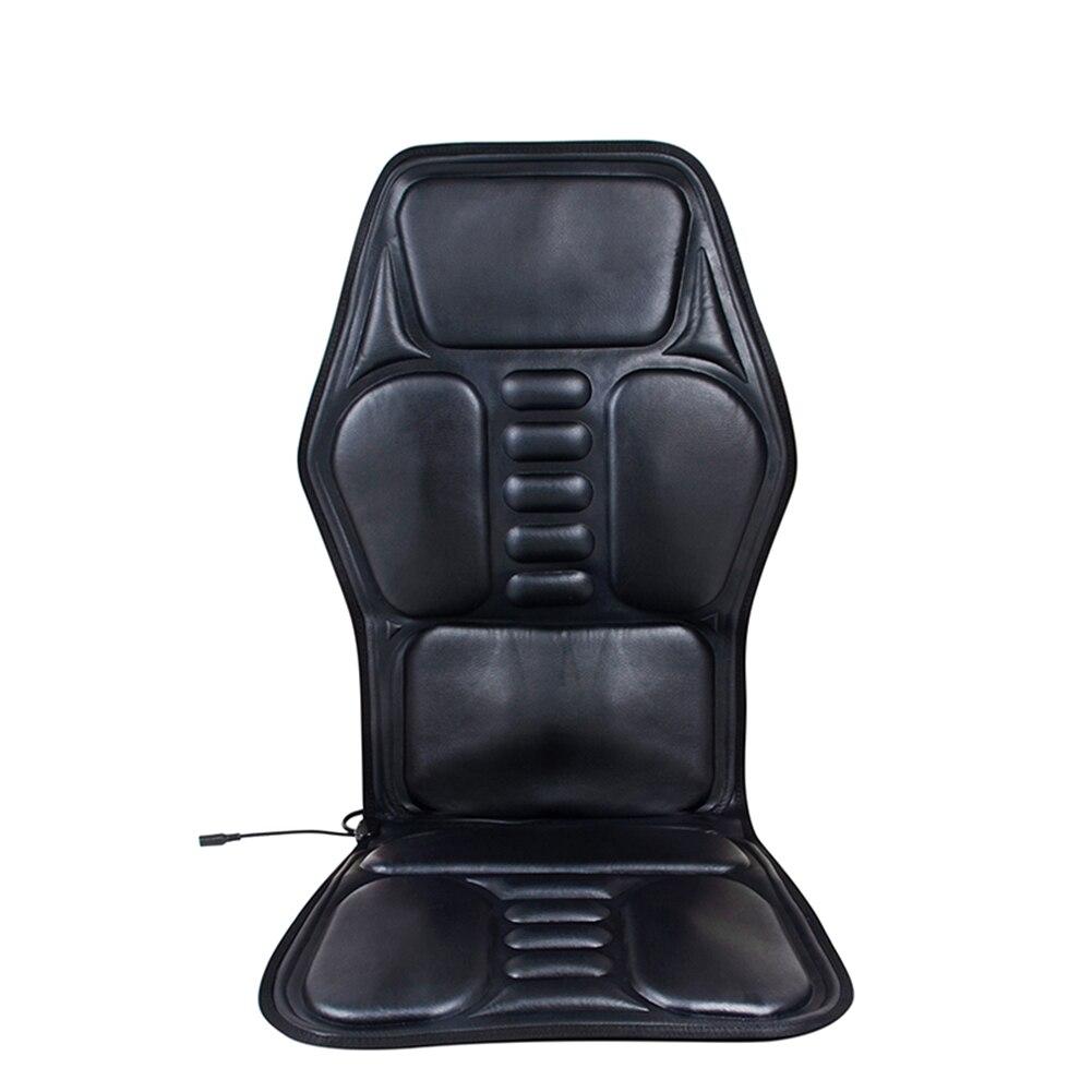 Black Car Seat Back Massage Chair Heat Seat Cushion shoulders,back waist/legs/Neck Pain Lumbar Home/Car Dual-use Support Car Pad chair