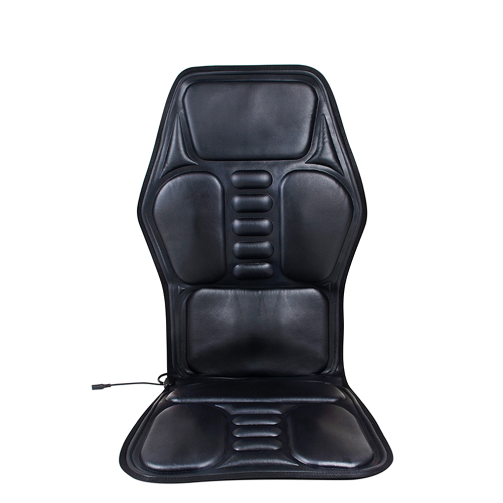 Black Car Seat Back Massage Chair Heat Seat Cushion shoulders,back waist/legs/Neck Pain Lumbar Home/Car Dual-use Support Car Pad