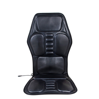 Black Car Seat Back Massage Chair Heat Seat Cushion shoulders,back waist/legs/Neck Pain Lumbar Home/Car Dual use Support Car Pad