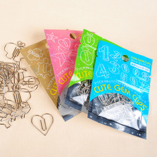 Metal animal small clip fruit notes folder message digital classification cute paper clips gem