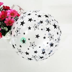 Image 5 - Ballons en Latex pour anniversaire, 10 pièces, 12 pouces, étoile transparente, noire et blanche, ballons à Air, jouet de décoration pour enfants