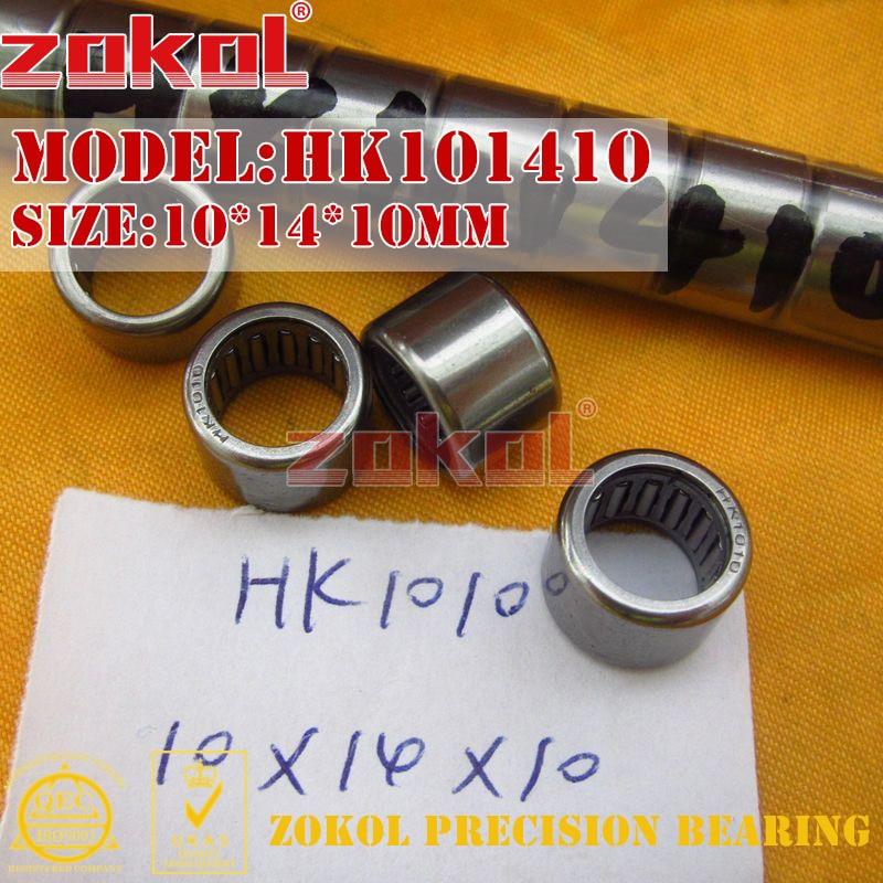 ZOKOL Bearing HK1008 HK1010 HK1012 HK1015 Needle Roller Bearing 10*14*8/10/12/15mm