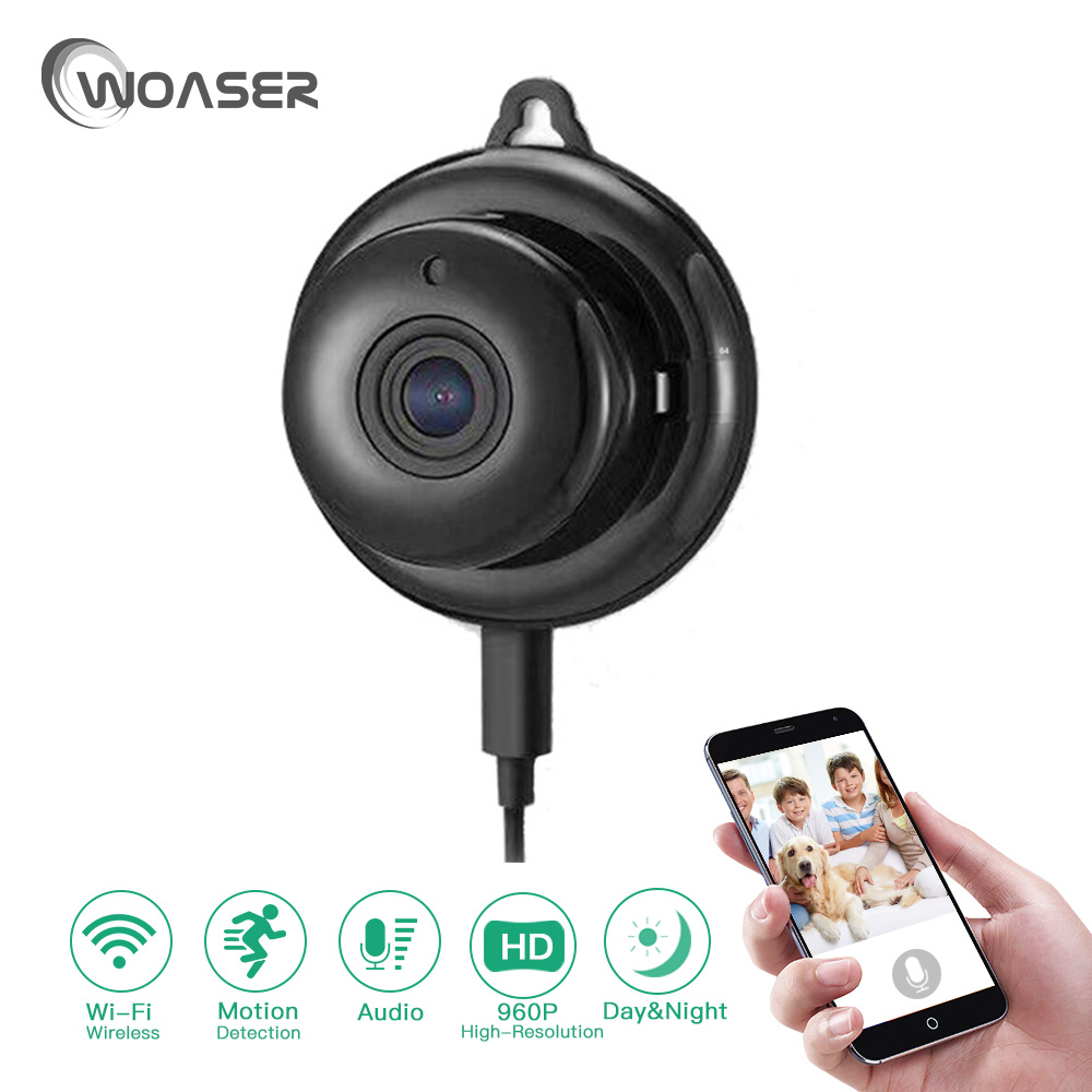 WOASER 960P HD3.6mm Smart Home Security IP Camera support TF 128G Wireless Mini WIFI Night Vision Onvif Monitor Baby Monitor