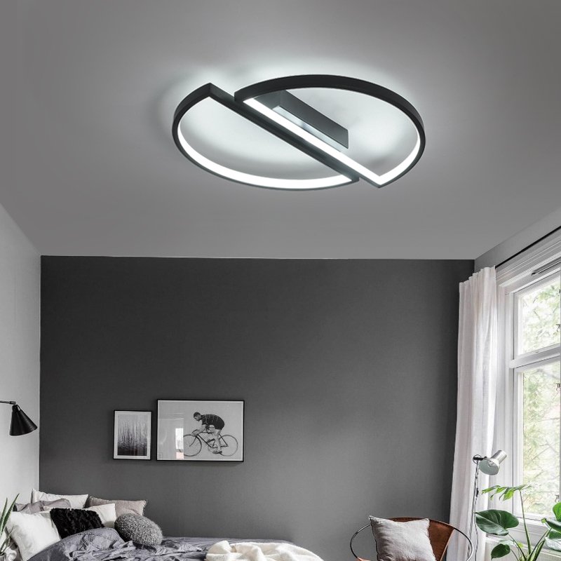 Image 3 - modern led ceiling lights For Living room dining room bedroom warm  creative study personality simple round ceiling lamp-in Ceiling Lights from Lights & Lighting