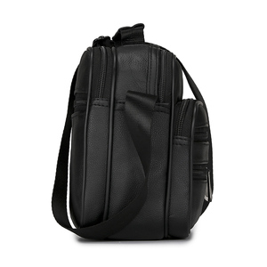 Image 5 - HUANILAI  Men Genuine Leather Bags Messenger Bag Men Shoulder Bag  Crossbody Bags Black Retro Multifunction Handbags TY008