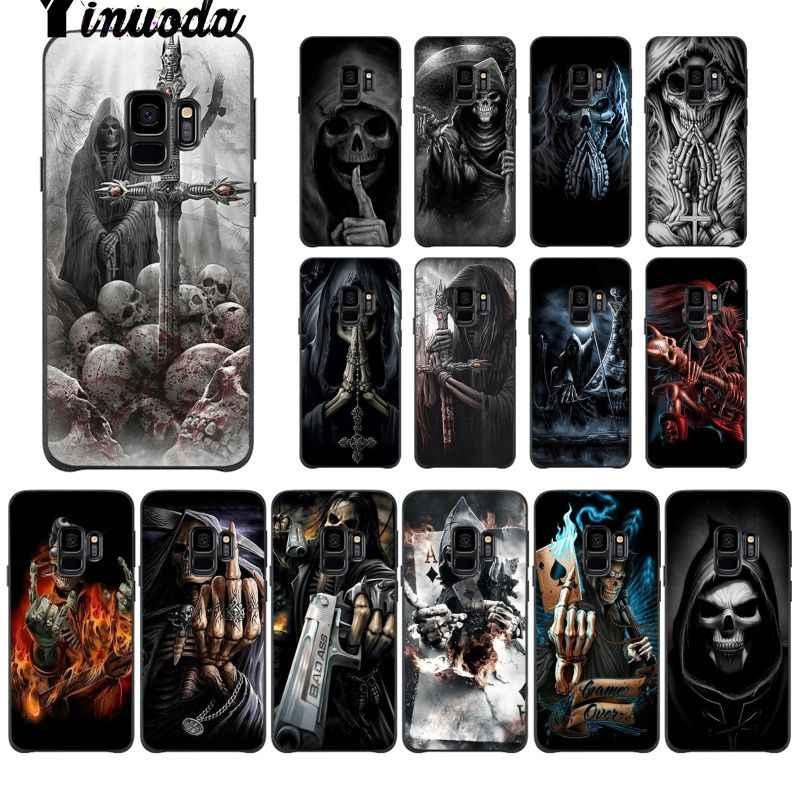 Yinuoda мрачный смерть с косой Скелет ультратонкий Новинка чехол для телефона Funda чехол для Galaxy S6 edge plus s7 edge s8 plus, s9 plus