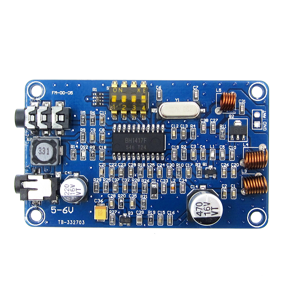 BH1417 200M 0.5W Digital Radio Station PLL Wireless Two Channel Stereo FM Transmitter Module 5-6V DC