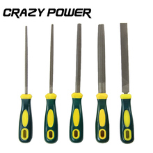 CRAZY POWER 5Pcs/Set 200MM Woodworking Polishing Carving Metal Mini Assorted Rasp Diamond Needle File Repair Hand Tools Jewelry