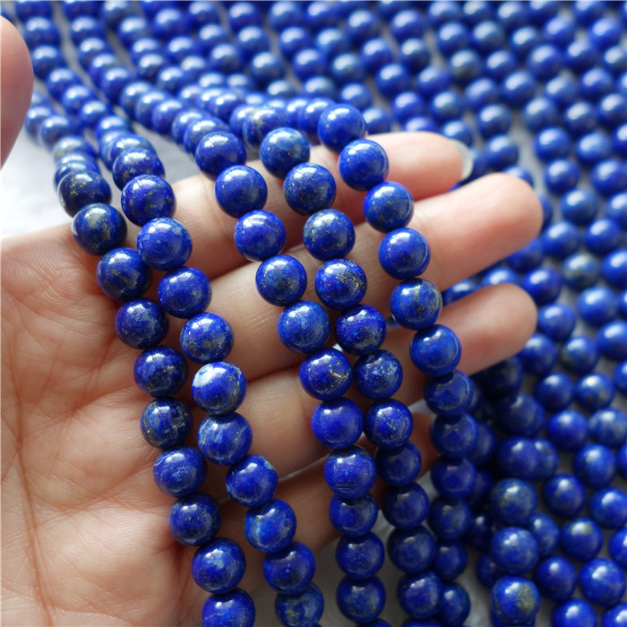 Brazil round beads fashion jewelry natural Lapis for making jewelry 8mm quality of AB
