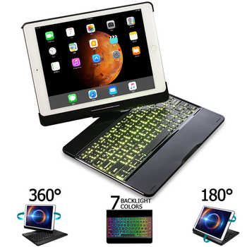 For iPad Pro 11 10.5 9.7 2018 2017 2016 Case Keyboard 360 Rotation 7 Color Backlit Bluetooth Keyboard Cover For iPad Pro Funda - DISCOUNT ITEM  20% OFF All Category
