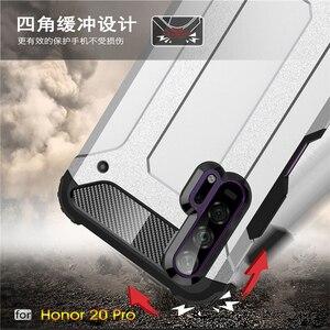 Image 5 - Pour Huawei Honor 20 Pro étui armure en caoutchouc robuste étui rigide pour Huawei Honor 20 Pro couverture pour Honor 20 Pro étui Youthsay