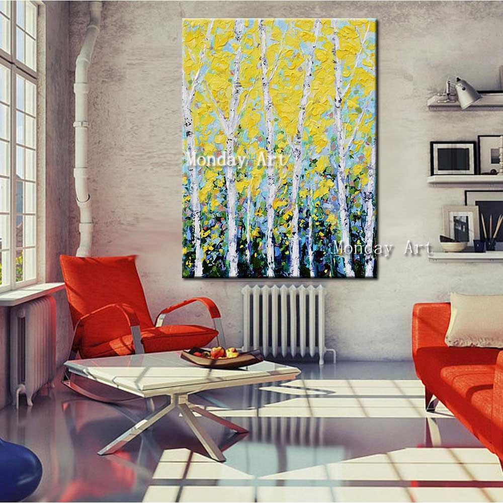 Hand-Painted-Abstract-Yellow-Tree-Forest-Landscape-Oil-Painting-Abstract-Wall-Picture-Living-Room-Home-Wall (5)