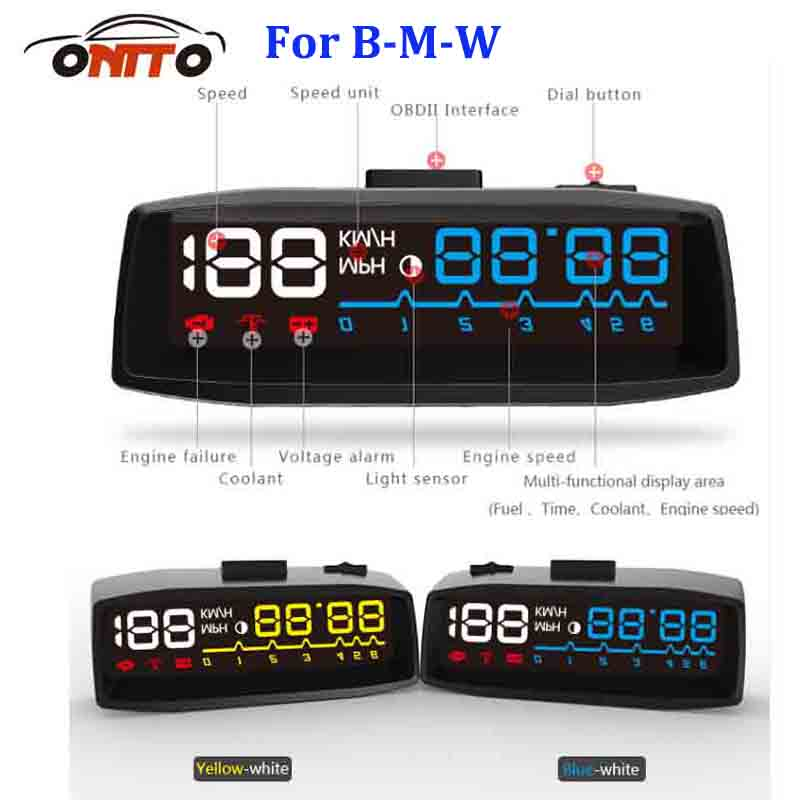 Auto HUD Lighting Car HUD head up displays OBD2 Euro OBD Outlet for bmw E60 E90 F10 F30 F15 E63 E64 E65 E86 E89 auto lamps