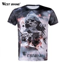 WEST BIKING Bicycle Jersey Men Short Sleeves Quick Dry Sport Clothes Running Cycling T-shirt Motocross MTB Shirt