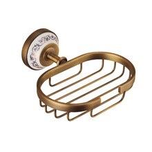 MADICA 16.5*14.5cm Bronze Soap Dishes For Shower Room Metal Copper Nail Solid Box  Vintage Brass Holder