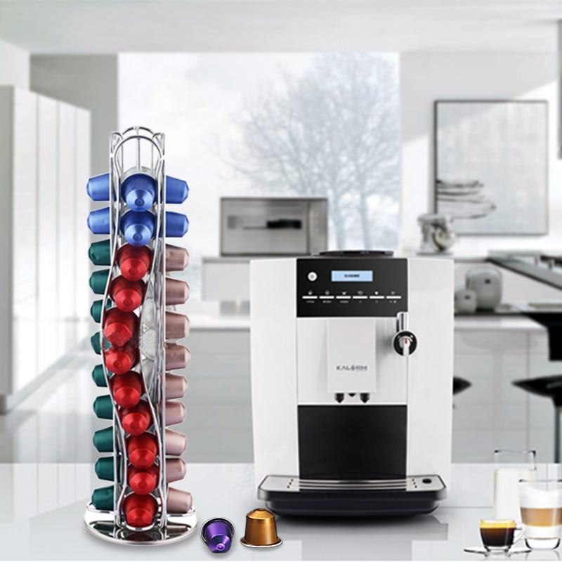 YONTREE Hot Sale 40 Cups Iron Plating Kaffekapsler Hylder Køkken - Hjem opbevaring og organisation - Foto 3