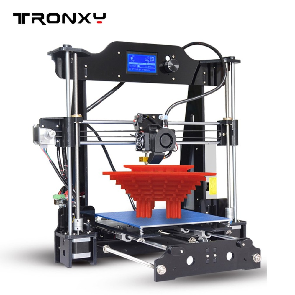 X8 High Precision DIY Acrylic Structure 3D Printer Large Print Size 220 220 200mm Great Gifts