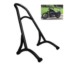 Motorcycle Black Passenger Backrest Sissy Bar For Harley Sportster XL883 1200 48 2016 цены онлайн