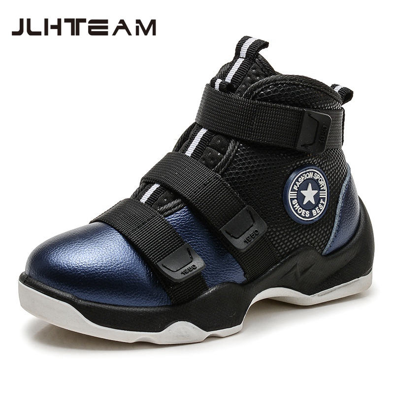 2017 New Winter Fashion Children Genuine Leather boots Kids Boots boys Running <font><b>Shoes</b></font> Flat With Plush Warmth Sports Sneakers