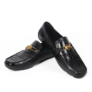 Image 5 - Vikeduo 2020 Handmade Luxury Shoes Fashion Party Casual Designer Moccasins Alligator Genuine Leather Crocodile Skin Men Shoes