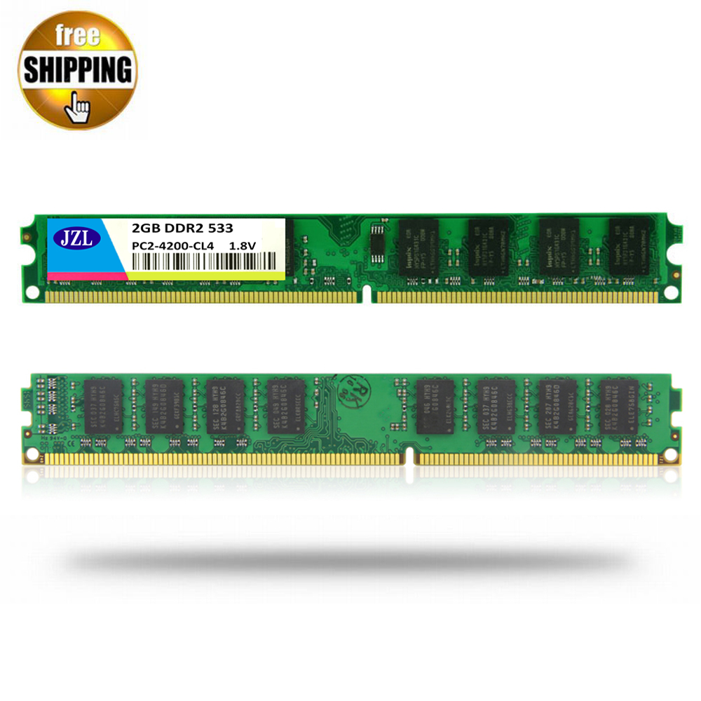 JZL Memoria PC2-4200 DDR2 533MHz / PC2 4200 <font><b>DDR</b></font> <font><b>2</b></font> 533 MHz <font><b>2GB</b></font> LC4 240PIN Desktop PC Computer DIMM Memory <font><b>RAM</b></font> Only For AMD CPU image