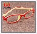 Silicona niños de los niños de lujo gafas chicos chicas marco miopía óptica Glasse Copos de silicona Macio Para CrianCas D0279