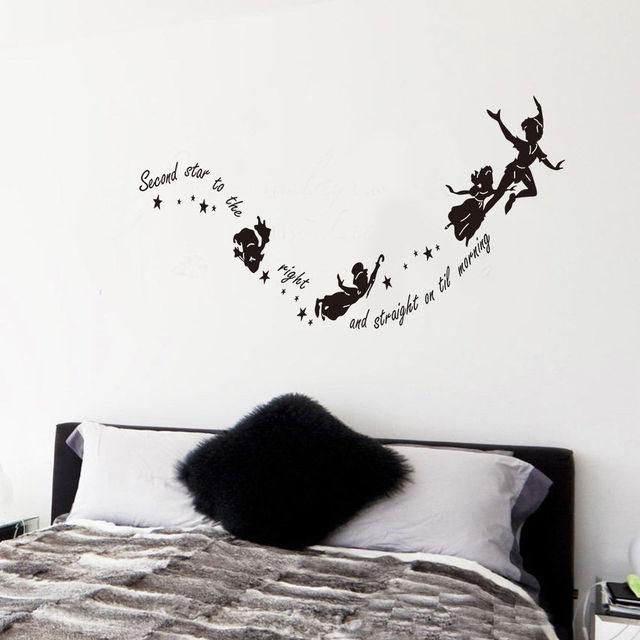 Peter Pan Second Star Wall Sticker Vinyl Decal DIY Kids Nursery ...