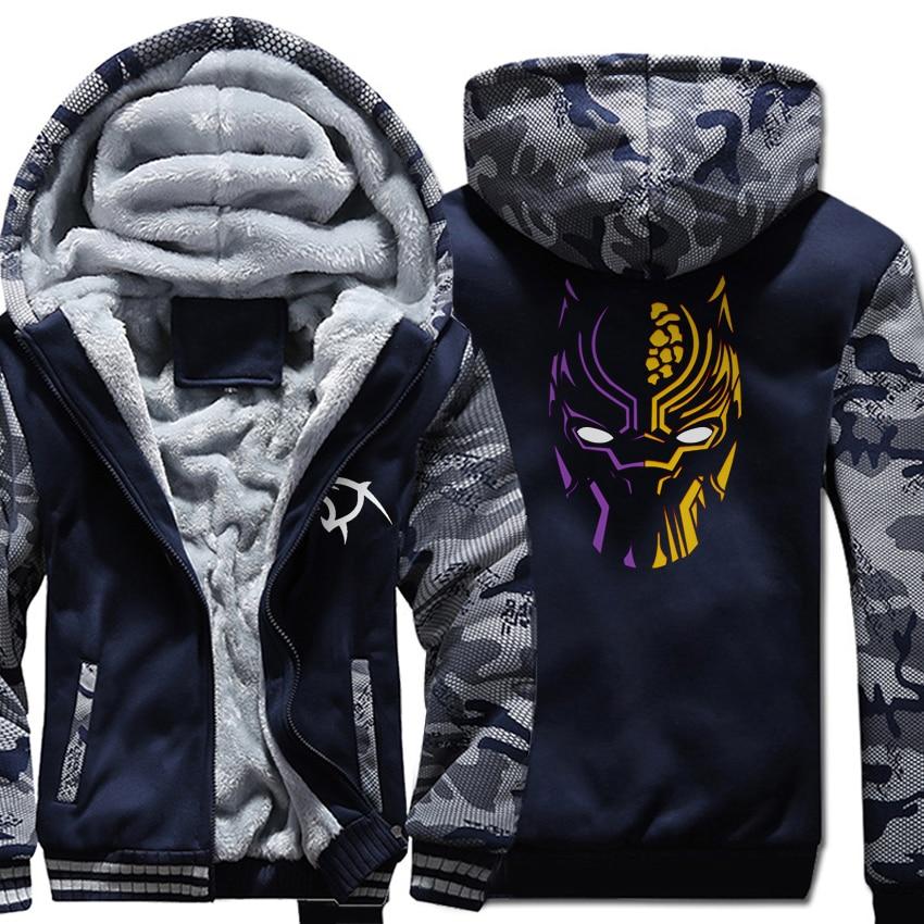 Brand Clothing Hooded Hoddie Autumn Winter Zipper Jackets Male 2018 Hot Black Panther Men's Hoodies Streetwear Sweatshirt Men