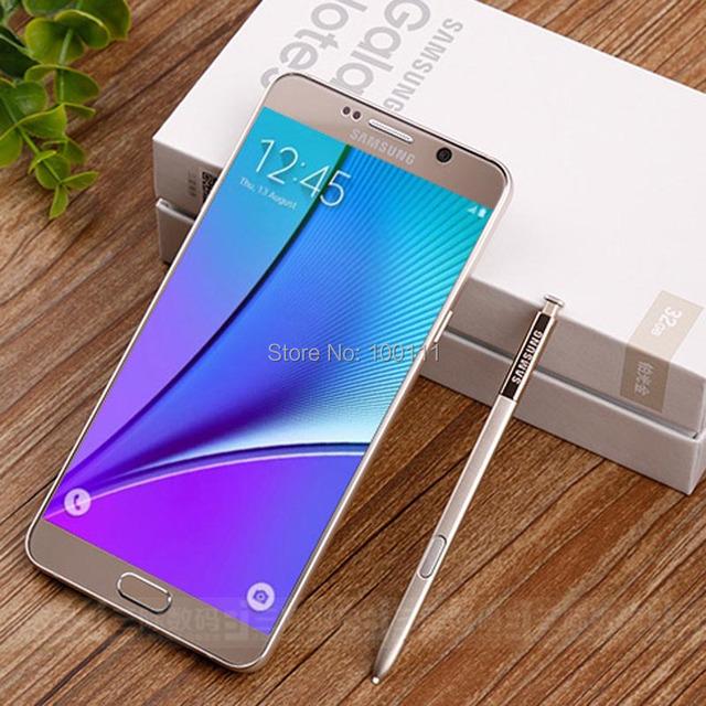 "Original Samsung Galaxy Note 5 N920A mobile phone 4GB RAM 32GB ROM 16MP 5.7 ""  single sim card 4G LTE ,Free DHL-EMS Shipping"
