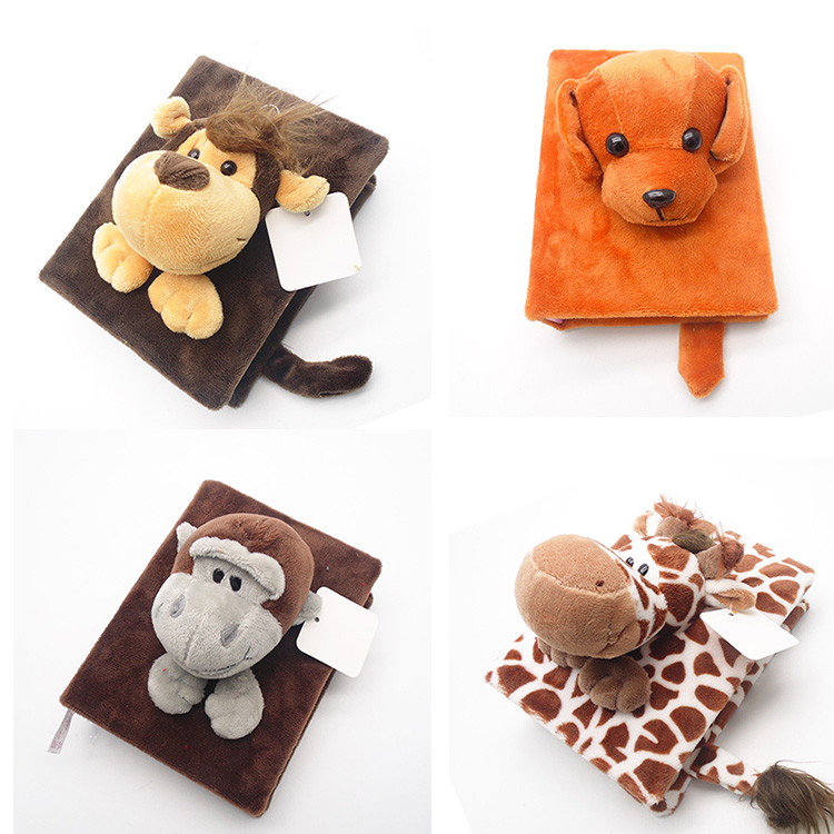 Baby Book Memories Plush Album Handcraft 3D Cute Animals 6 Inch 96 Photos Accommodate Polaroid Pictures Albums New Year Gift image