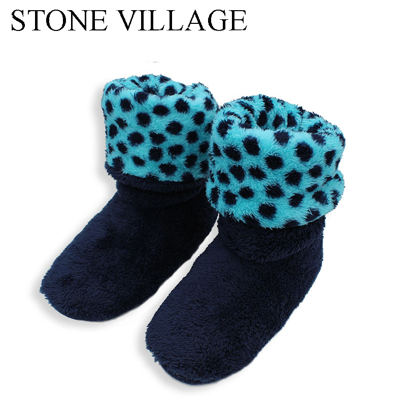купить 2018 New Patchwork Soft Plush Warm Home Slippers Sewing Handmade Floor Slippers Women Coral Fleece Indoor Shoes Women 3 Colros недорого