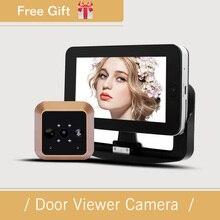 Spezielle Pluggabel Design 4,3 Zoll PIR Bewegungserkennung Wireless Tür Kamera 0,3 Mega Pixel Video Elektronische Türspion