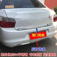 自動車部品ステンレス鋼リアドアトリムトリムストリップフィット用2014-2016シトロエンエリゼc-エリゼ2ピース/セッ
