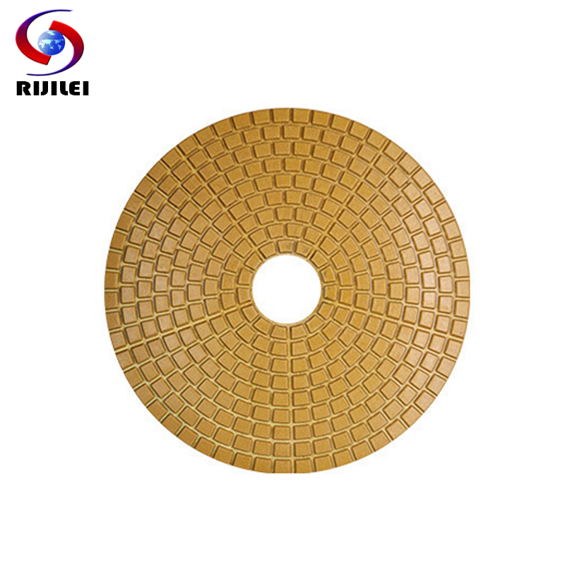 Diamond Polishing Pad 4 Inch Wet Sander Disc For Granite Stone Resin Circle Polishing Wheel 9 Pcs/lot 100 Mm