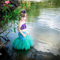 POSH DREAM Baby Mermaid Fishtail Tutu Set Baby Girl Mermaid Cosplay Dresses Under The Sea Photo Prop Outfit Halloween Costume