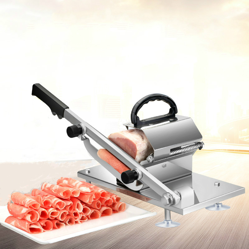 Meat slicer Slicer Sliced meat cutting machine Manual slicer Automatic meat delivery Desktop Easy-cut frozen beef and mutton цена