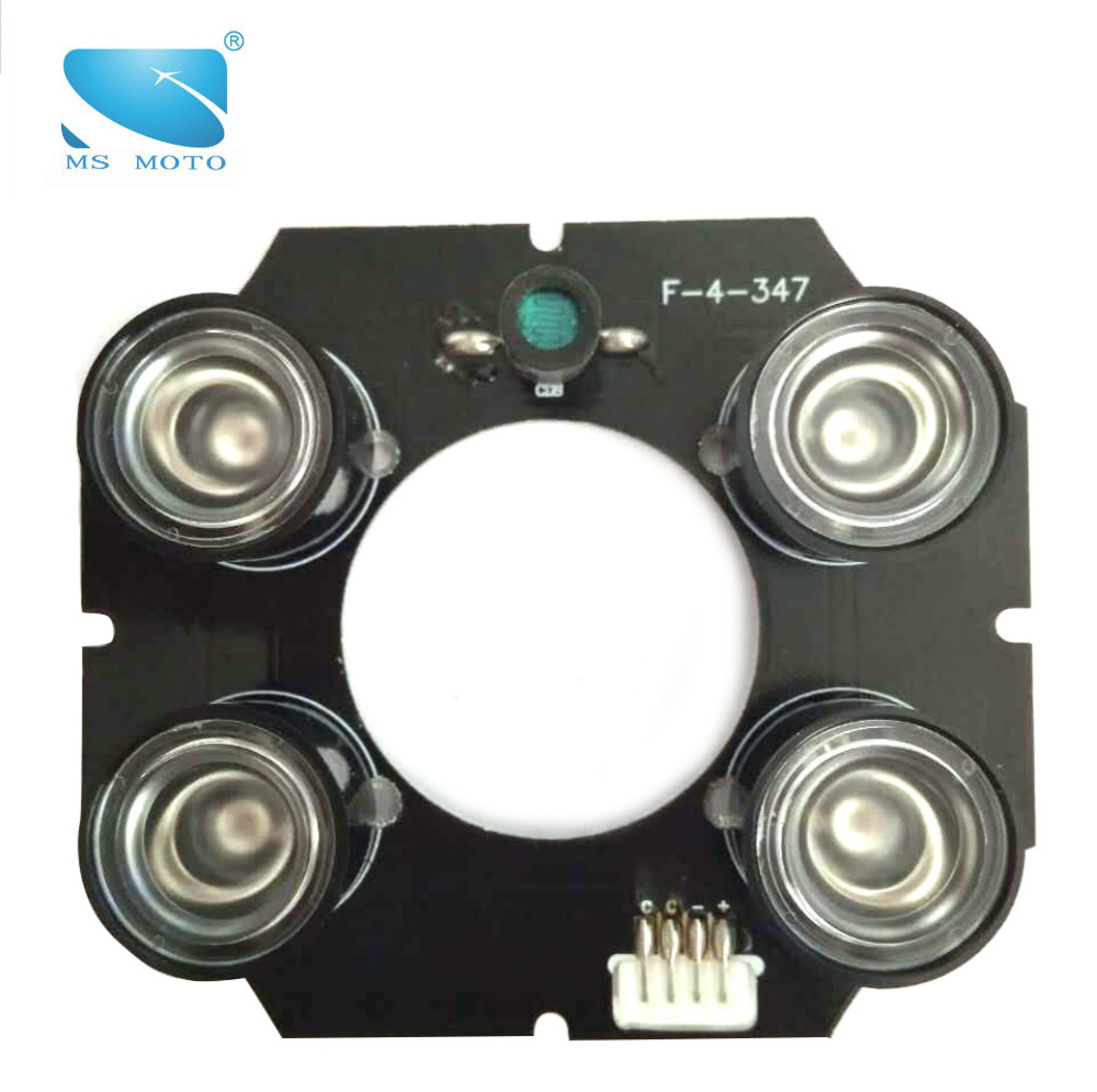 IR ILLUMINATOR INFRARED LIGHT BOARD CCTV IR CAMERA LIGHT BOARD 4PCS 42MIL HIGH POWER ARRAY IR LED 60-90M VIEWING RANGE цена