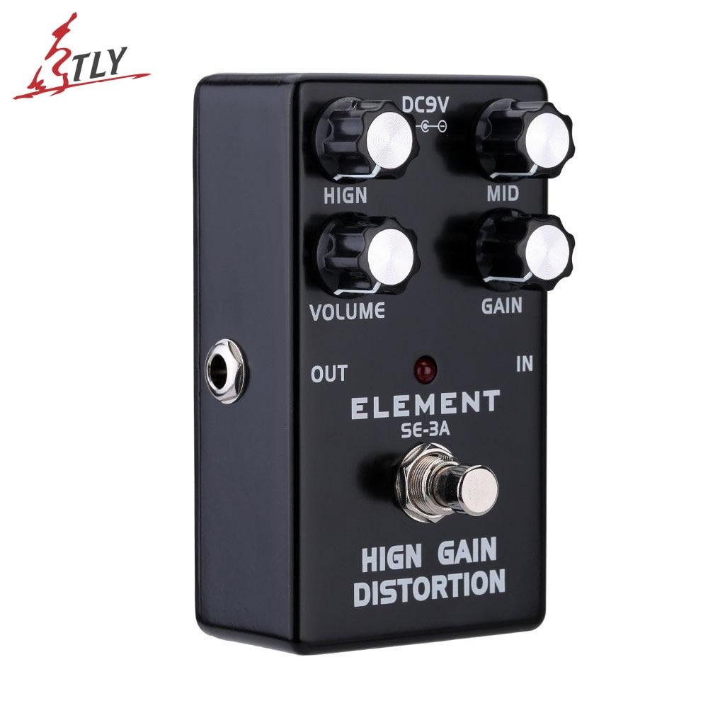 New ELEMENT Guitar Effect Pedal High Gain Distortion True Bypass High Quality Aluminum Alloy Body Guitarra Effect new guitar distortion pedal de high quality
