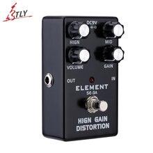 New ELEMENT Guitar Effect Pedal High Gain Distortion True Bypass High Quality Aluminum Alloy Body Guitarra Effect