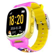 Tencent QQ Дети Smart Watch GPS Tracker Дети Телефон Камеры SOS LBS Расположение Шагомер Сигнализация Погода для Android IOS Розовый