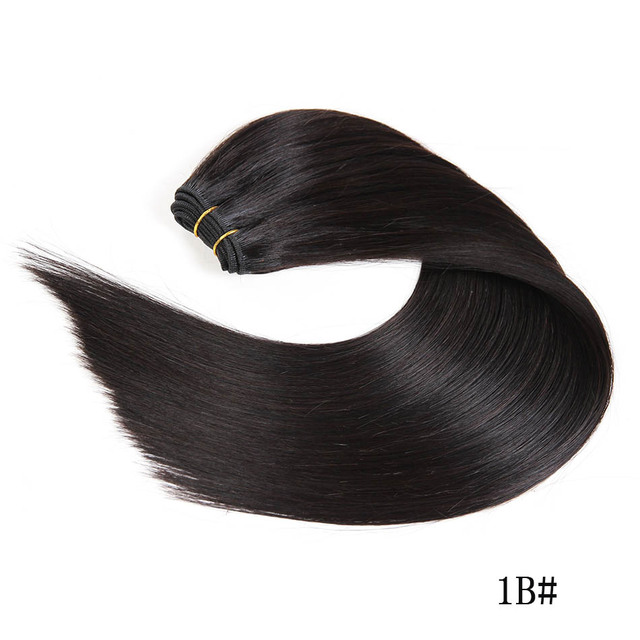 """Ali-Beauty Straight Human Hair Weave Extensions 100% Remy Human Hair Weft 18-24"""" 100G"""