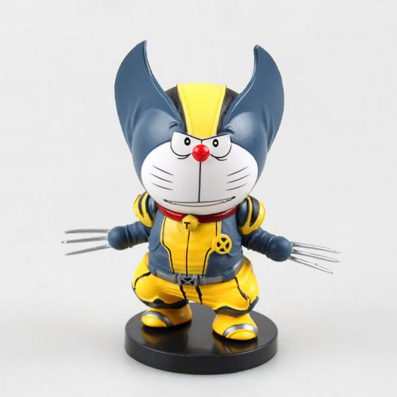 ФОТО doraemon figures car decoration action figures 9cm q veresion wolverine cute figures anime hot toys japanese toys