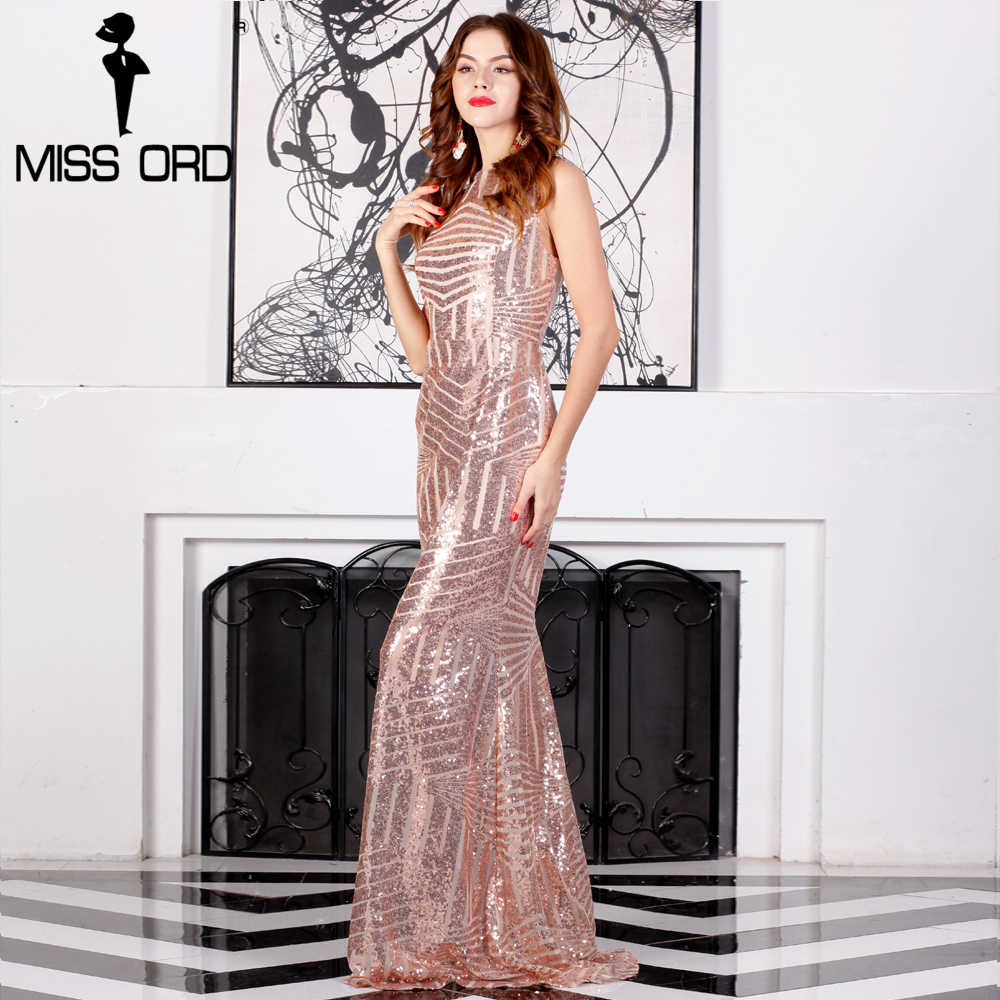 de955bfe602 ... Missord 2019 сексуальное без рукавов с открытой спиной chian sequin  maxi платье FT6860 ...