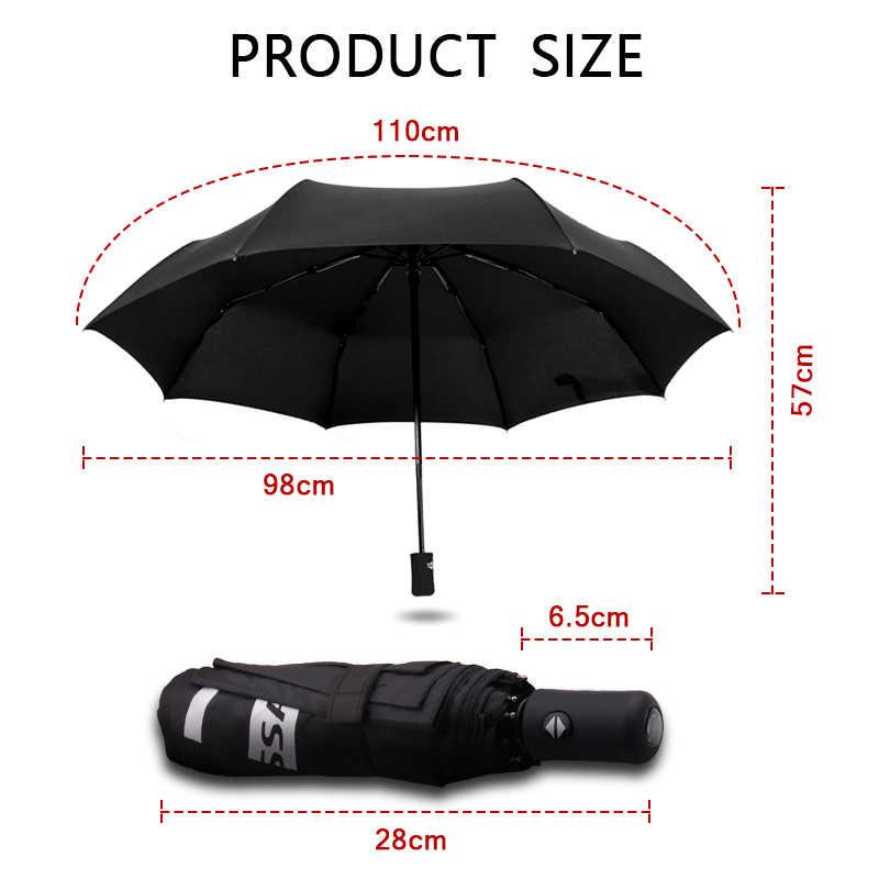 Высококачественный зонт от солнца и дождя 3 складной, автомат-Зонт Черный непроницаем для УФ-лучей ветрозащитный зонт для mazda 2 3 mazda 6 CX-5 cx5 cx-7cx-9