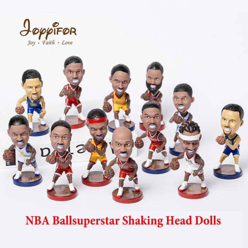 377fa6a6431 Joyyifor NBA Super Star Player Shaking Head Action Figure Basketball Model  Toys Doll Kobe James Curry