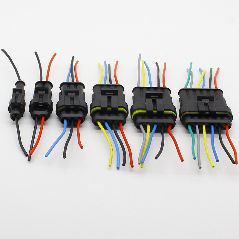 1 sets 2/3/4/6/8/10 Pin Way Waterproof Wire Connector Plug Car Auto ...