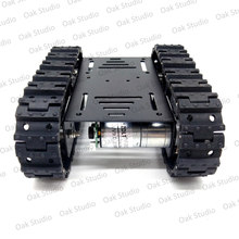 Mini T10 tank robot car chassis kit,metal wheel,for DIY robot toy/remote control tracked smart car development kit(China)