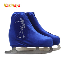 24 Colors Child Adult Velvet Ice Skating Figure Skating Shoes Cover Roller Skate Fabric Accessories White Skater 3 Rhinestone